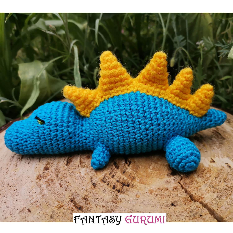 bebe dinosaure bleu/jaune