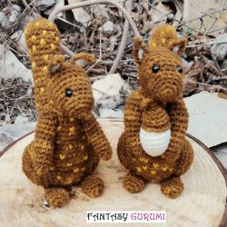 écureuil en laine de mouton